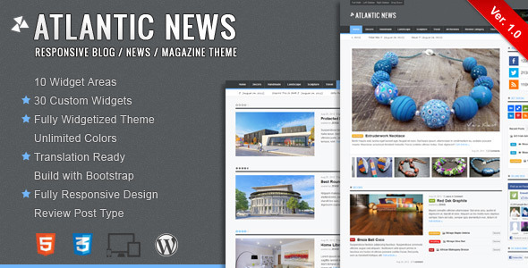 atlantic wordpress Free Template: Photomin | Responsive HTML Template