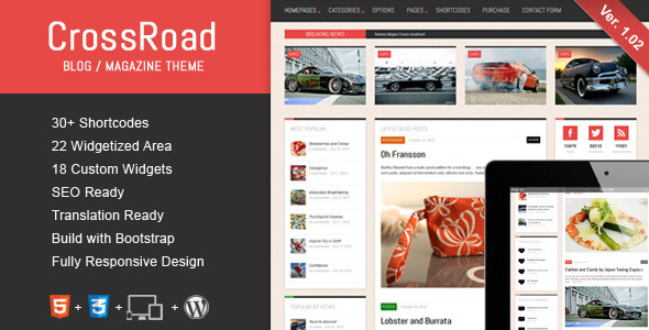 crossroad wordpress Free Template: Photomin | Responsive HTML Template