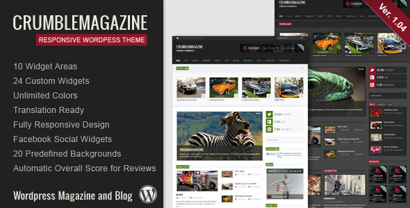 crumble wordpress Free Template: Photomin | Responsive HTML Template