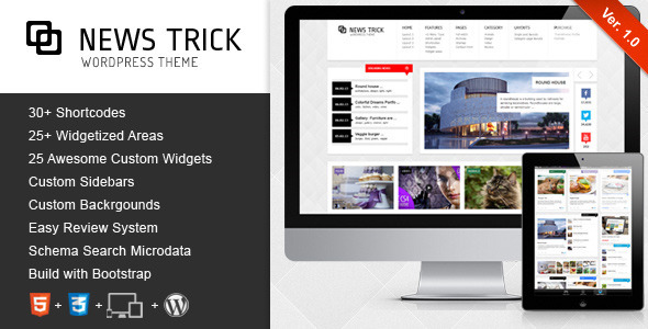 newstrick wordpress Free Template: Photomin | Responsive HTML Template